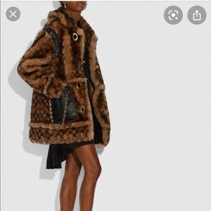 Coach shearling fur coat